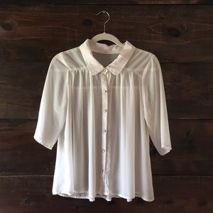 Everly collared blouse